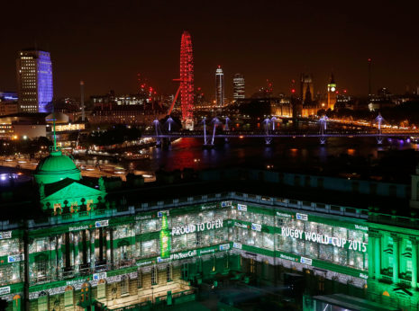 LONDON, ENGLAND - AUGUST 26:   Heineken Rugby Legends open Rugby World Cup 2015 at Somerset House to celebrate Heineken