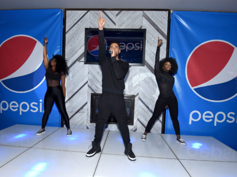 NEW YORK, NY - DECEMBER 02:  #NextPepsiArtist Jussie Smollett performs on stage during the Pepsi Empire viewing party with at Gansevoort Park Avenue NYC on December 2, 2015 in New York City.  (Photo by Dave Kotinsky/Getty Images for Pepsi)